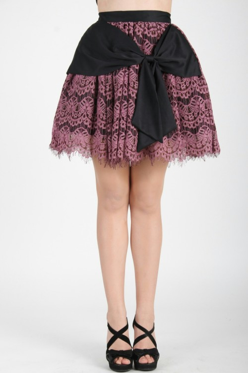 Amy Black Lace Skirt