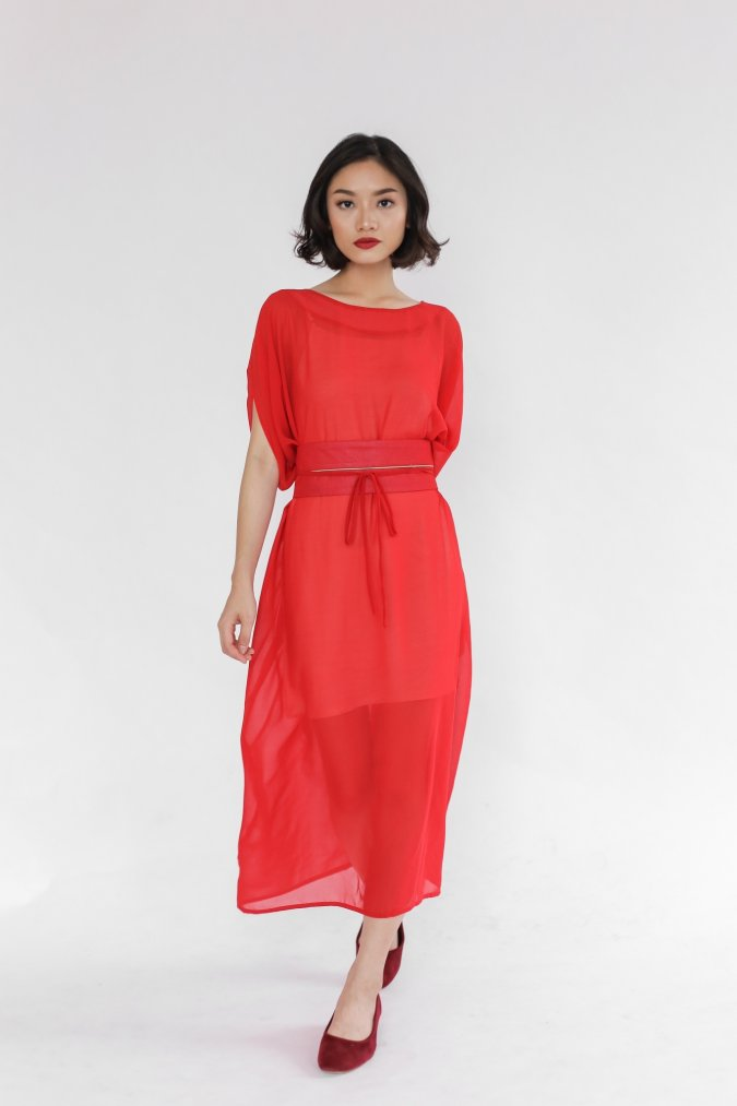 Lishu Dress Red