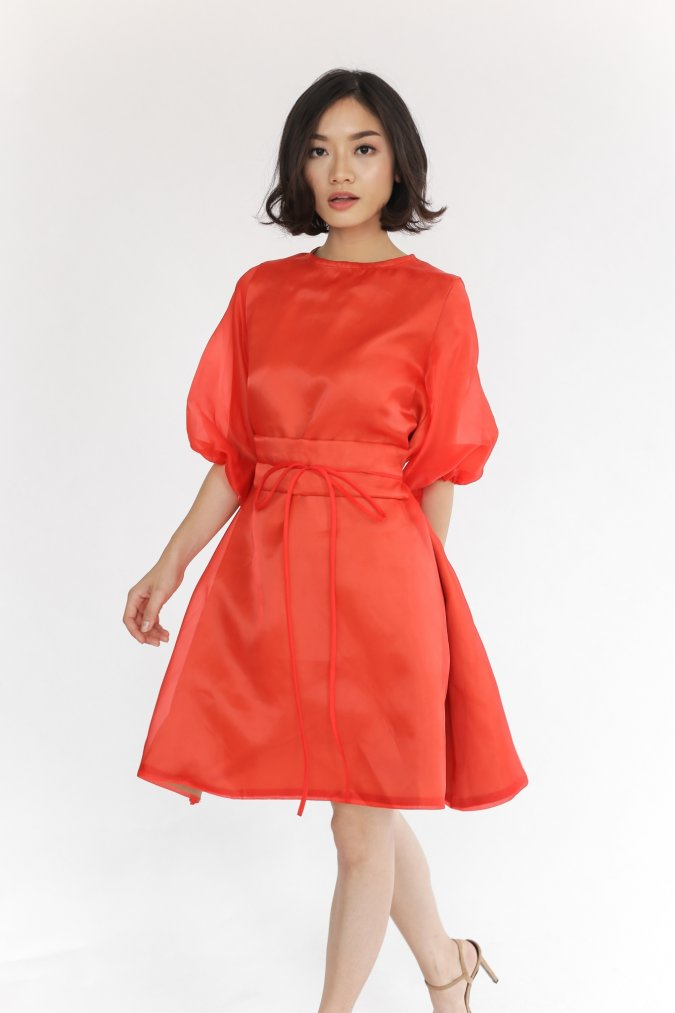 Frey Dress Red