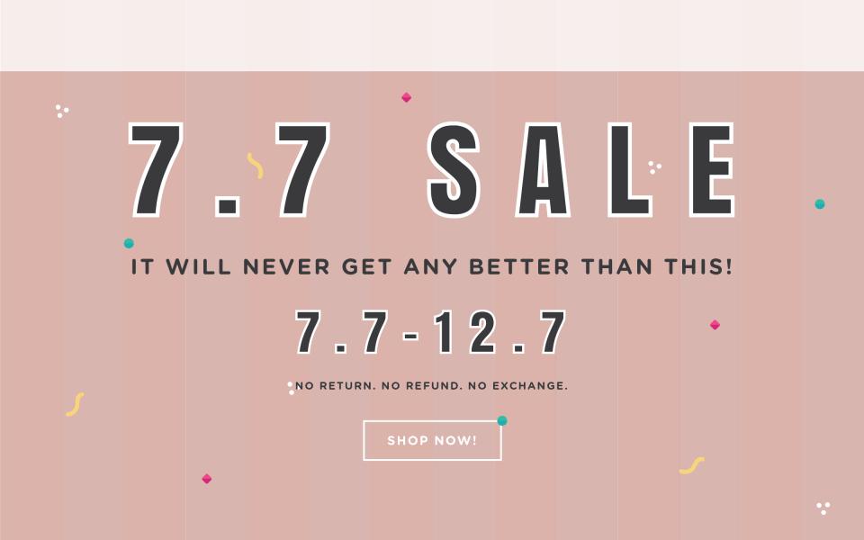 7.7 SALE SLIDER