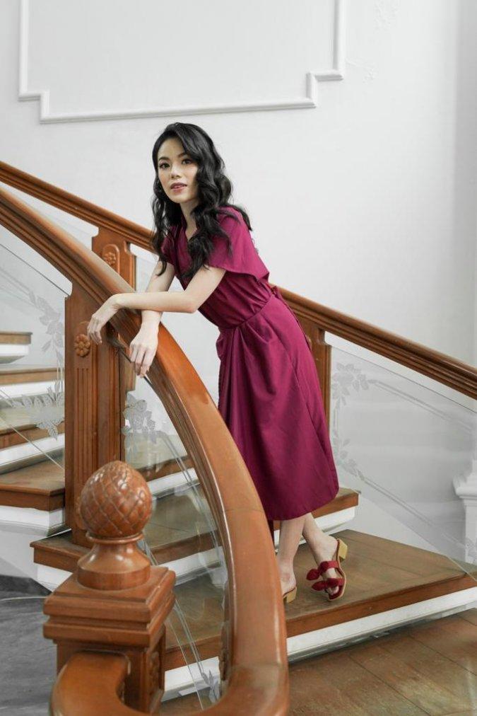 Shang Drape Skirt (Wine)