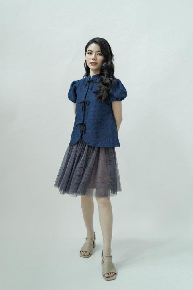 (BUNDLE) Sheng Top + Qin Tulle Skirt (Midnight Blue)